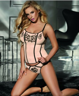 Ensemble corset et string C-415