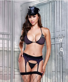 Ensemble sexy officier de police 1291